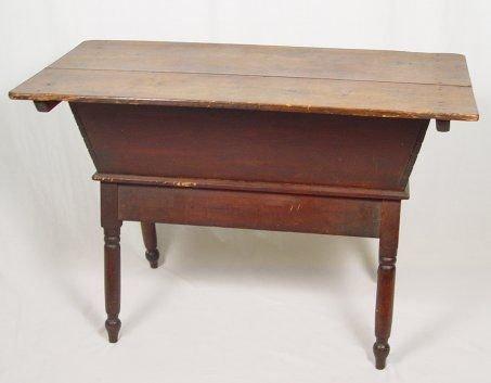 9: 19TH C PINE DOUGH BOX WORK TABLE
