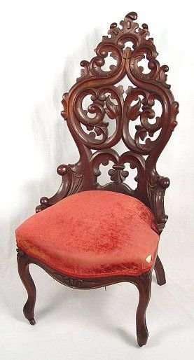3: ROCOCO CARVED MAHOGANY SIDE CHAIR