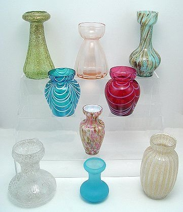 438: 70 GLASS HYACINTH BULB VASES MOSTLY ANTIQUE