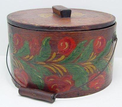 10: PENNSYLVANIA DUTCH PAINT DECORATED CHEESE BOX