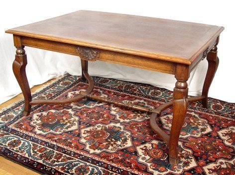 24: BELGIAN OAK DINING, LIBRARY OR CONFERENCE TABLE
