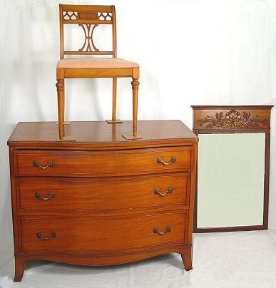 15: LIGHT MAHOGANY CHEST ON CHEST AND DRESSER