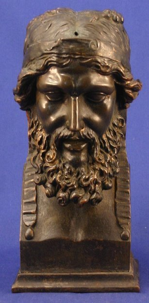 14: ANTIQUE BRONZE OF A BEARDED MAN