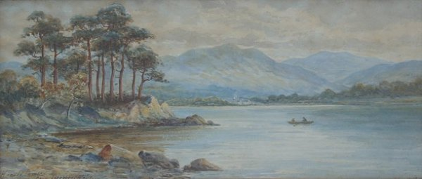 22: HAROLD LAWES FRIARS CRAG PAINTING