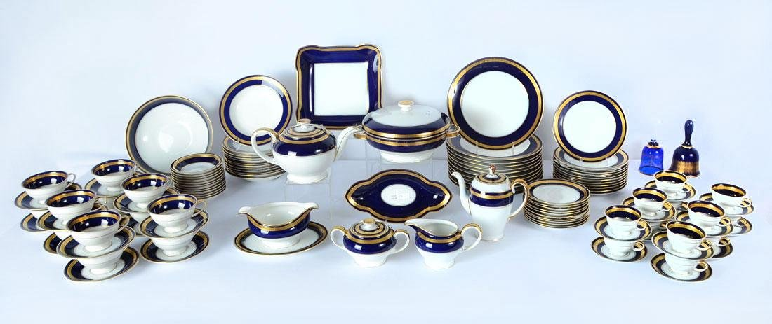 115 pc ROSENTHAL EMINENCE COBALT BLUE DINNER CHINA