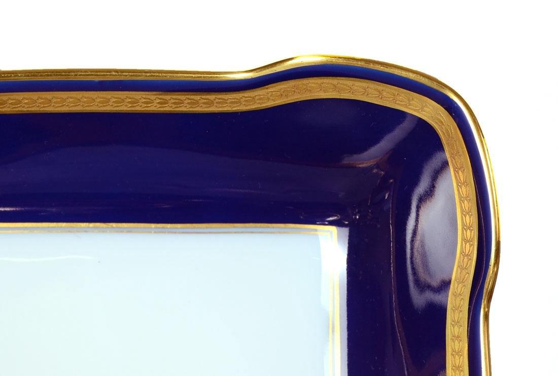 115 pc ROSENTHAL EMINENCE COBALT BLUE DINNER CHINA - 3
