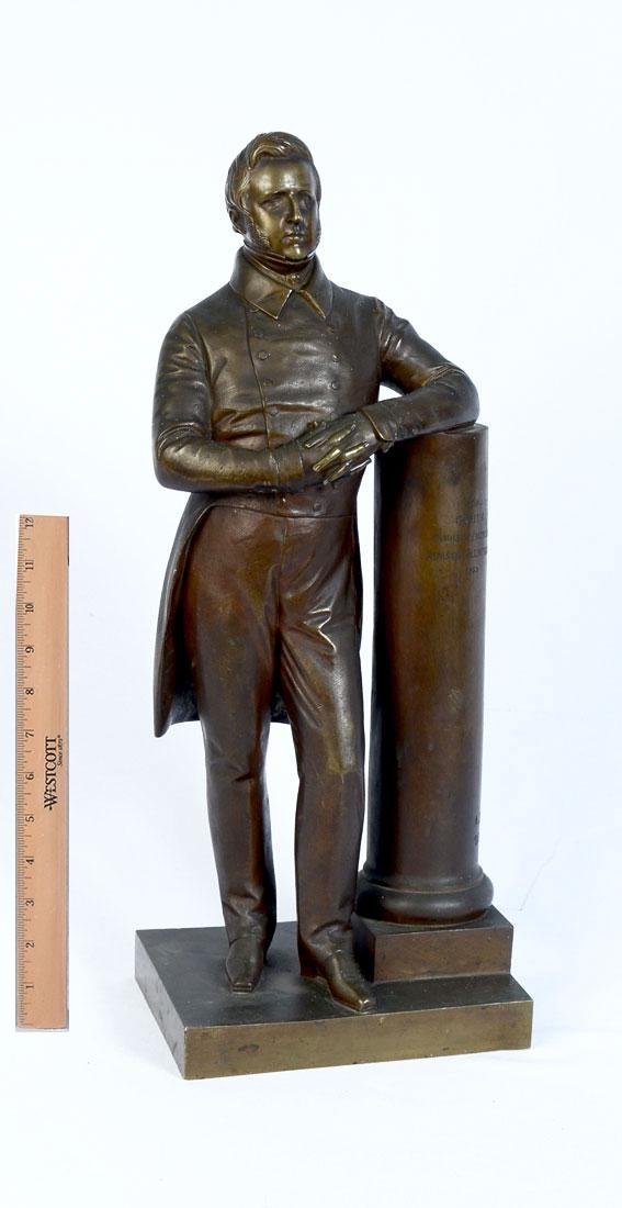 BARRE BRONZE OF FORMER MINISTER OF NAPOLEON