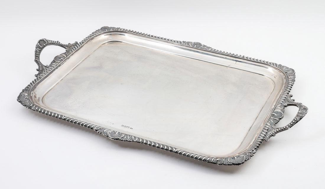 GOLDSMITHS & SILVERSMITHS ENGLISH STERLING TRAY