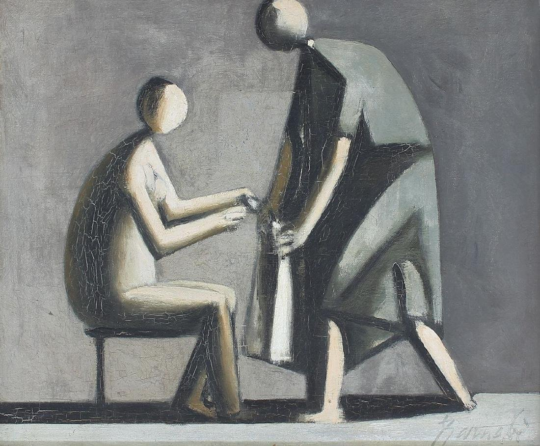 DUILIO BARNABE MODERNIST PAINTING