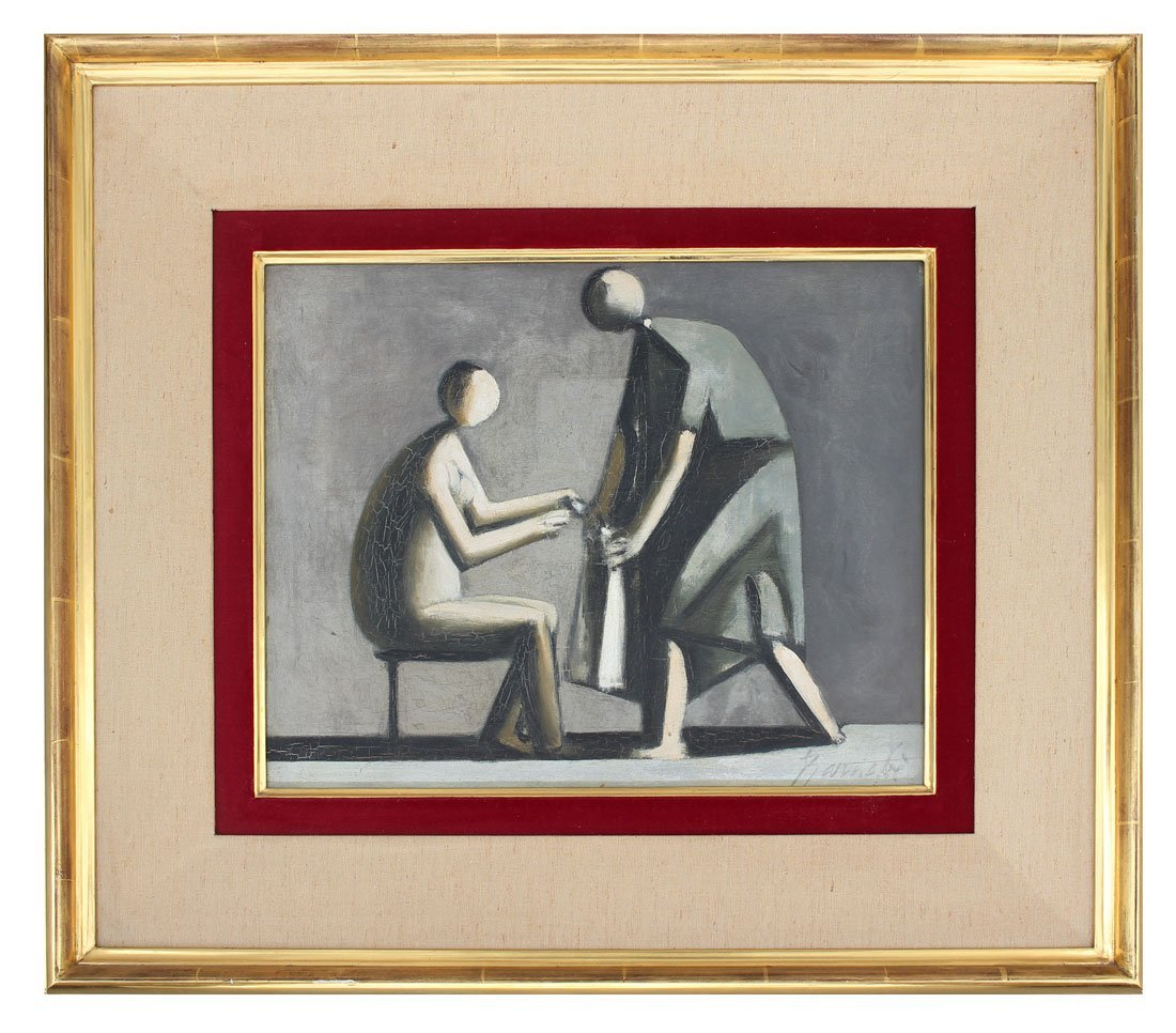 DUILIO BARNABE MODERNIST PAINTING - 2