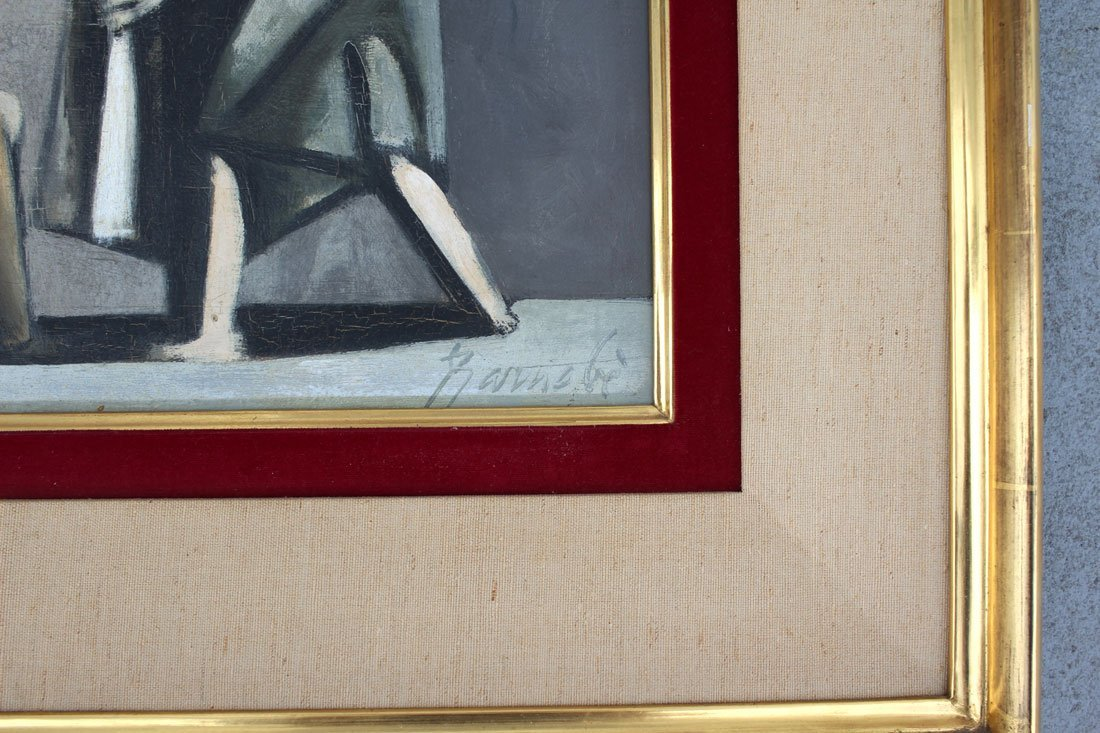 DUILIO BARNABE MODERNIST PAINTING - 3