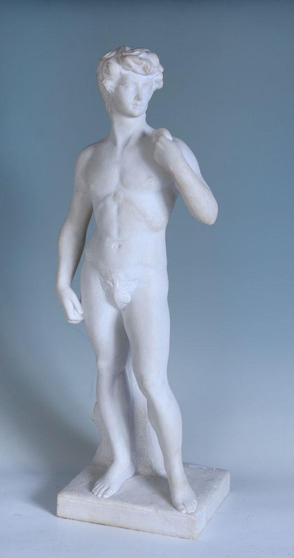 LARGE MARBLE NUDE OF DAVID