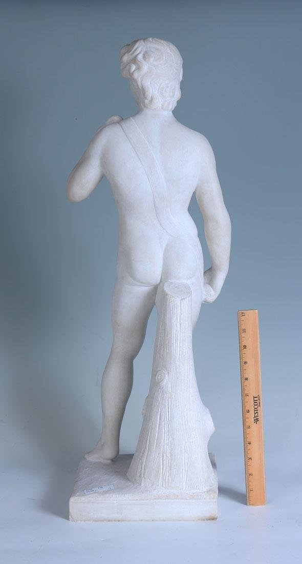 LARGE MARBLE NUDE OF DAVID - 2