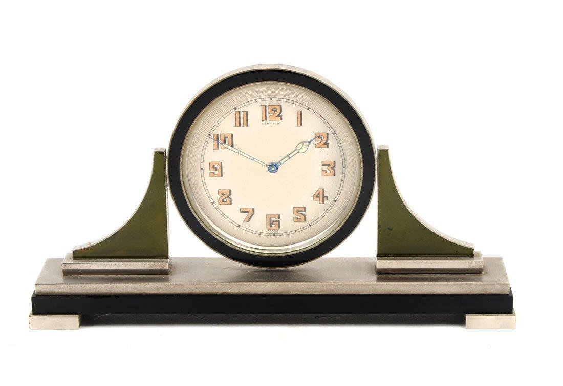 CARTIER FRENCH ART DECO DESK CLOCK