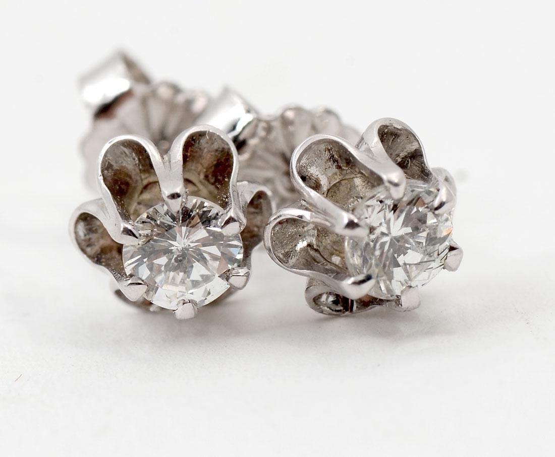 14K & DIAMOND EAR STUDS - 3