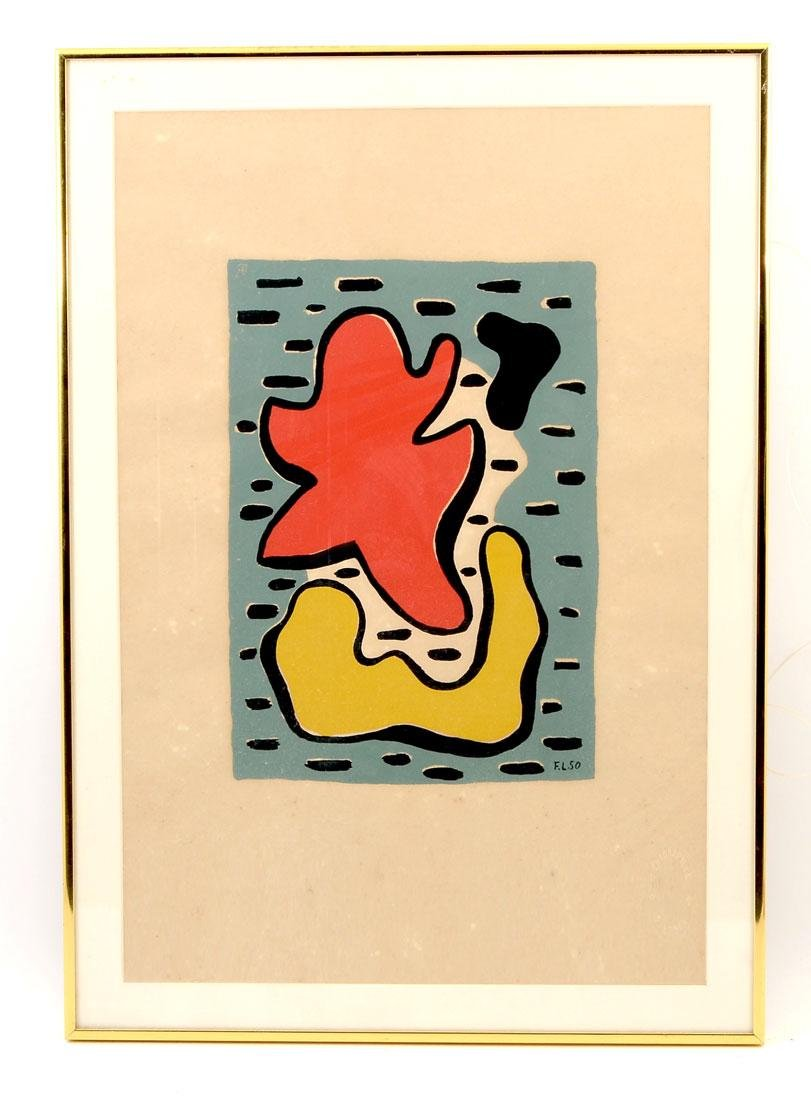 FERNAND LEGER ABSTRACT SERIGRAPH - 2