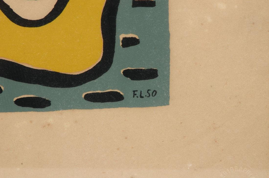 FERNAND LEGER ABSTRACT SERIGRAPH - 3