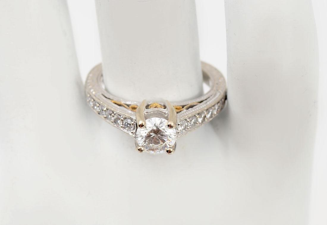 18K & .75 CTW DIAMOND EDWARDIAN REVIVAL RING