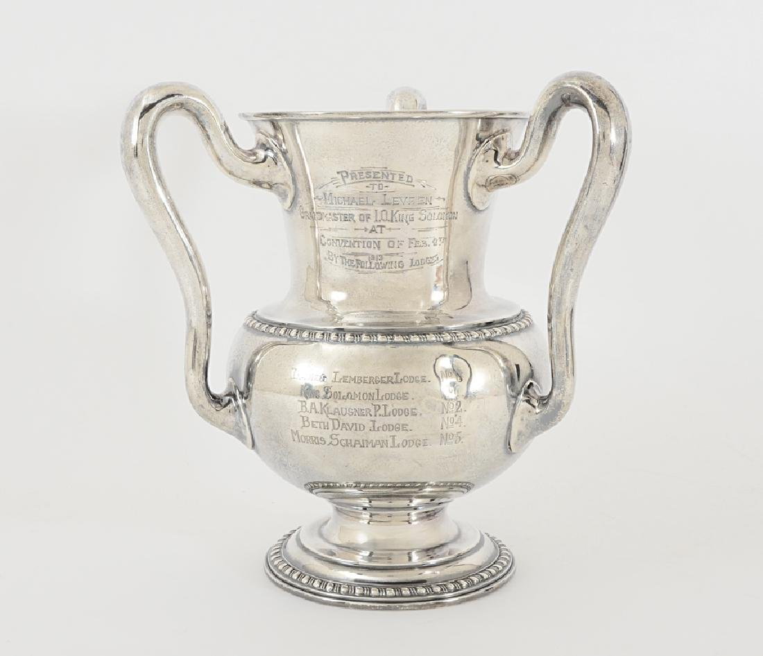 FRATERNAL STERLING PRESENTATION LOVING CUP