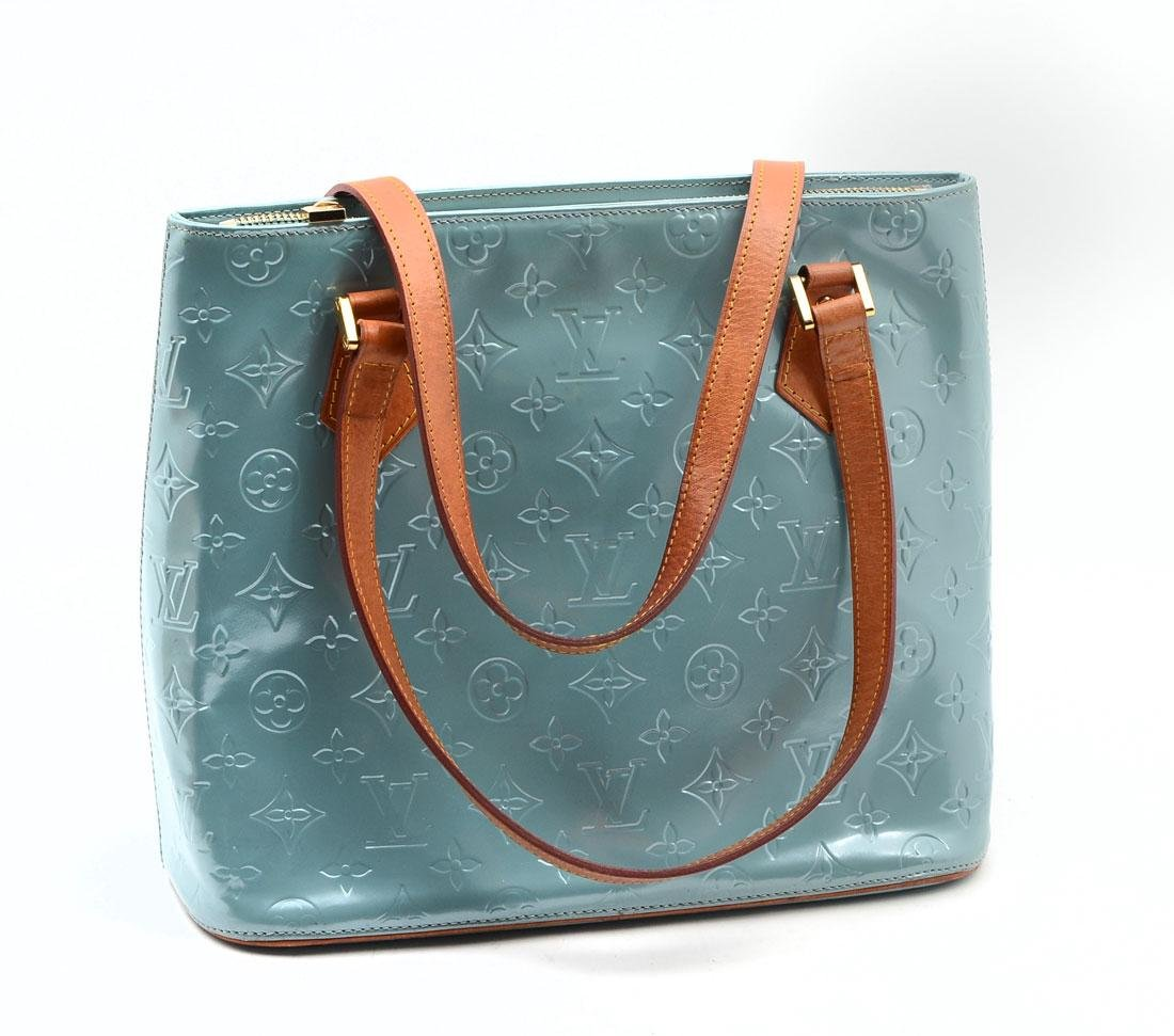 LOUIS VUITTON VERNIS HOUSTON BABY BLUE TOTE BAG
