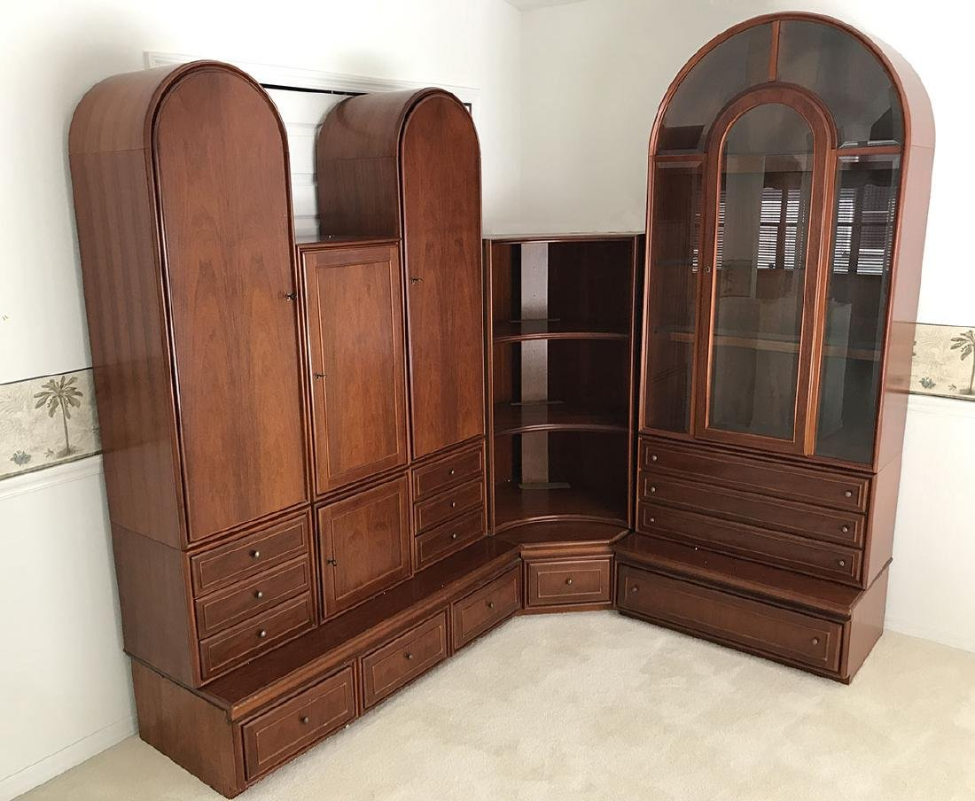 WITLAKE 5 PIECE WALL UNIT DISPLAY & BOOKCASE