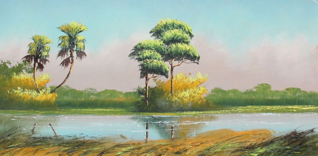 ALFRED HAIR FLORIDA HIGHWAYMEN PAINTING