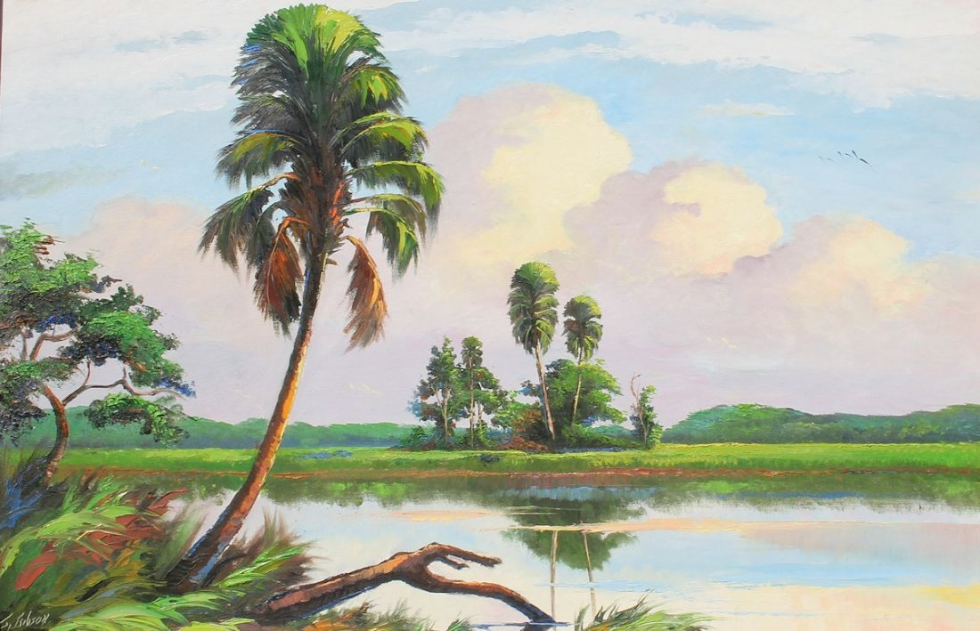 JAMES GIBSON FLORIDA HIGHWAYMEN PAINTING