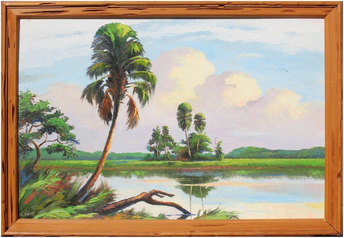 JAMES GIBSON FLORIDA HIGHWAYMEN PAINTING - 2