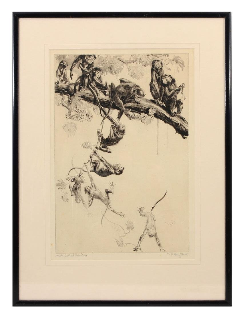 "BRIGHTWELL ETCHING ""THE SOCIAL CLIMBERS"" - 2"