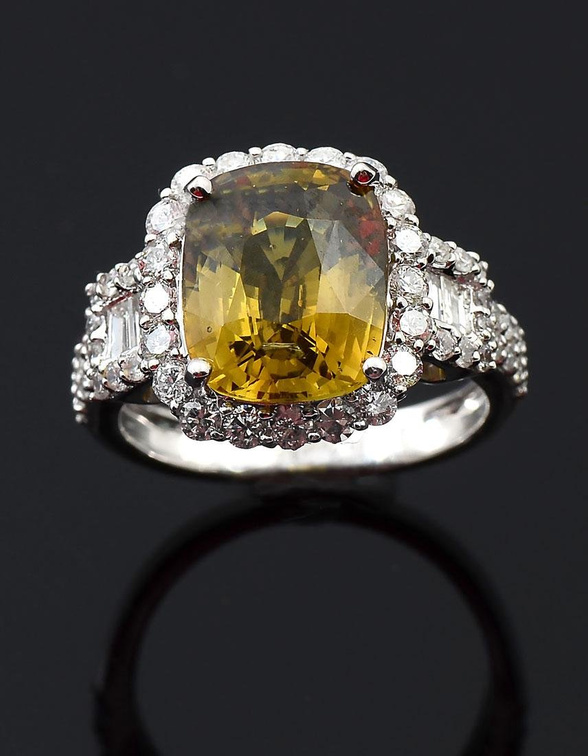 14K 5.97CT ALEXANDRITE & DIAMOND RING