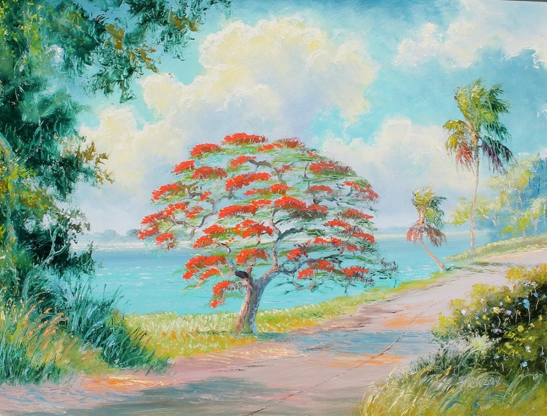 SAMUEL NEWTON FLORIDA HIGHWAYMEN PAINTING