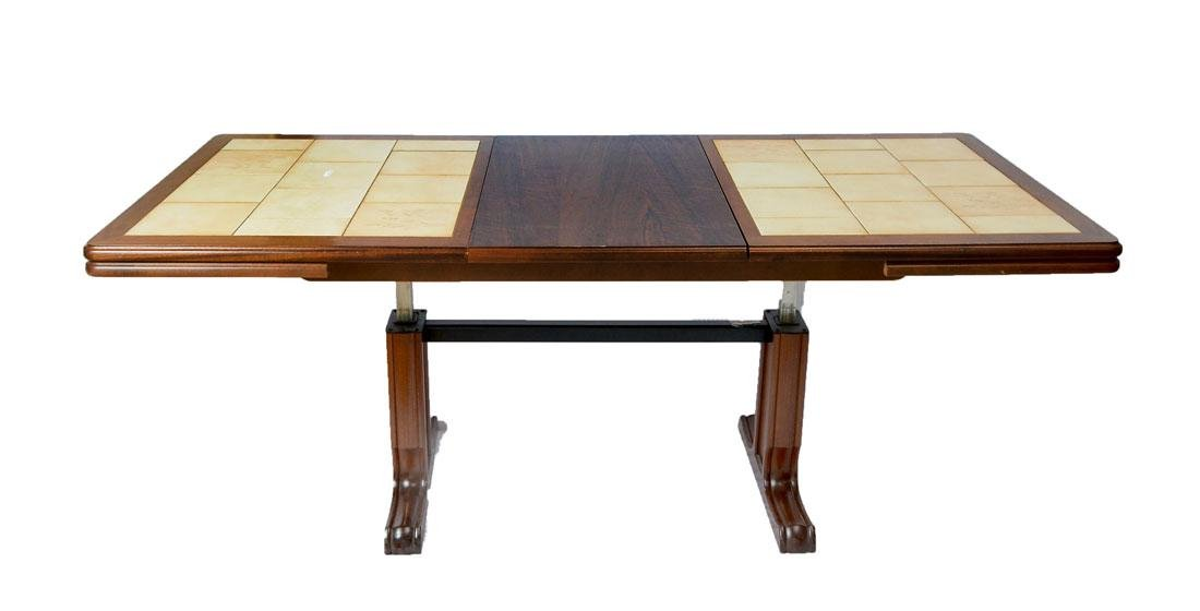 CONVERTIBLE ROSEWOOD TILE TOP TABLE