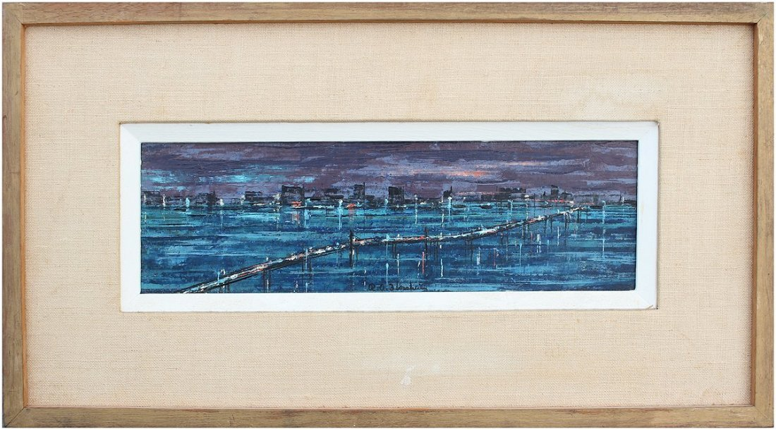 RICHARD FLORSHEIM MODERNIST FLORIDA PAINTING - 2