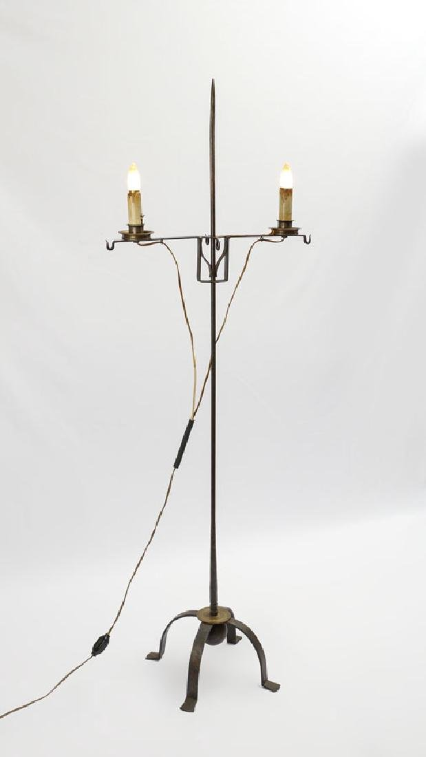 DEAN FORGE WILLIAMSBURG IRON FLOOR LAMP