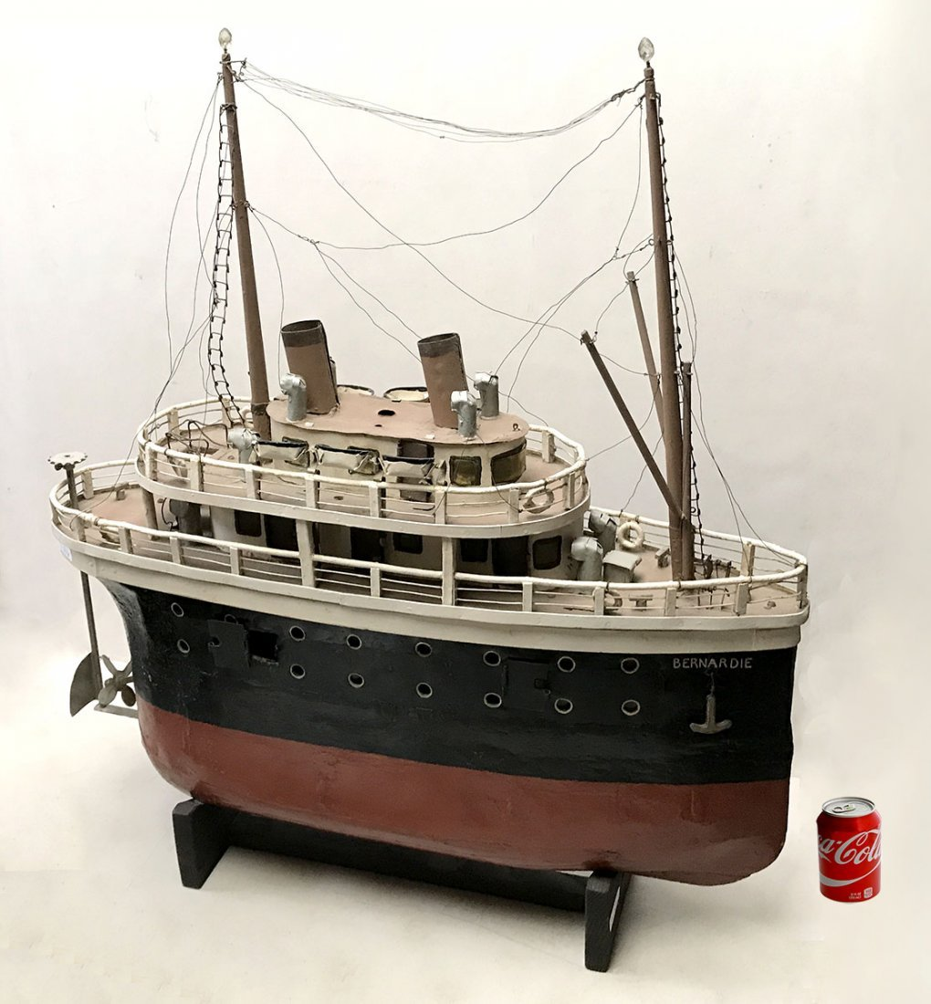PAUL BUMBALL HAND MADE WWII STEAMSHIP MODEL