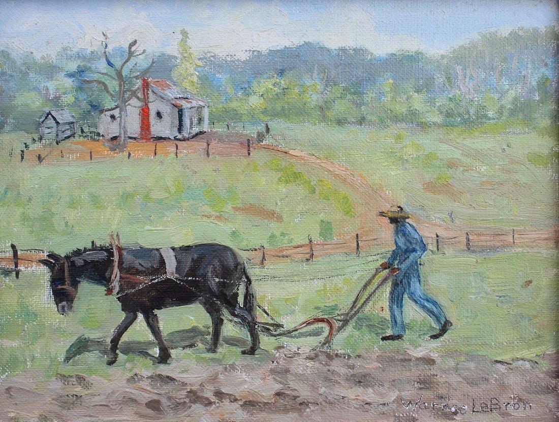 WARREE LEBRON PAINTING SOUTHERN FIELD WORKER