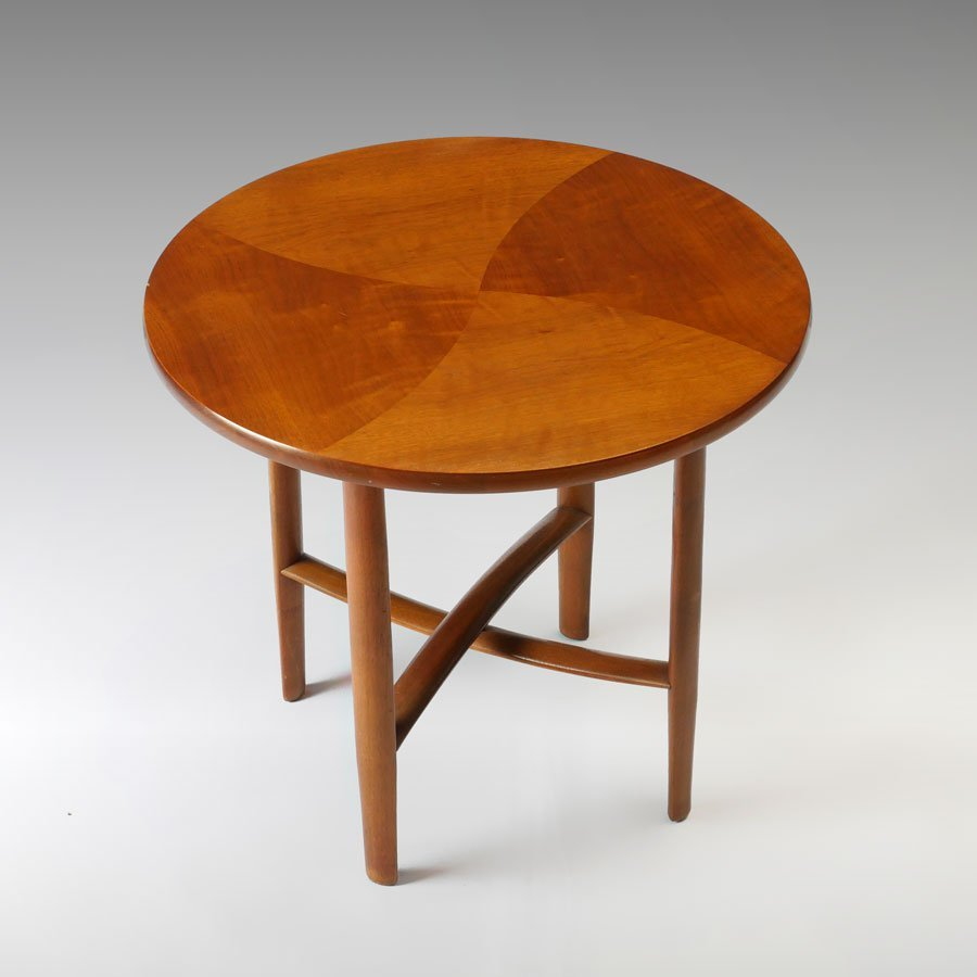 DREXEL PARALLEL PARQUETRY SIDE TABLE