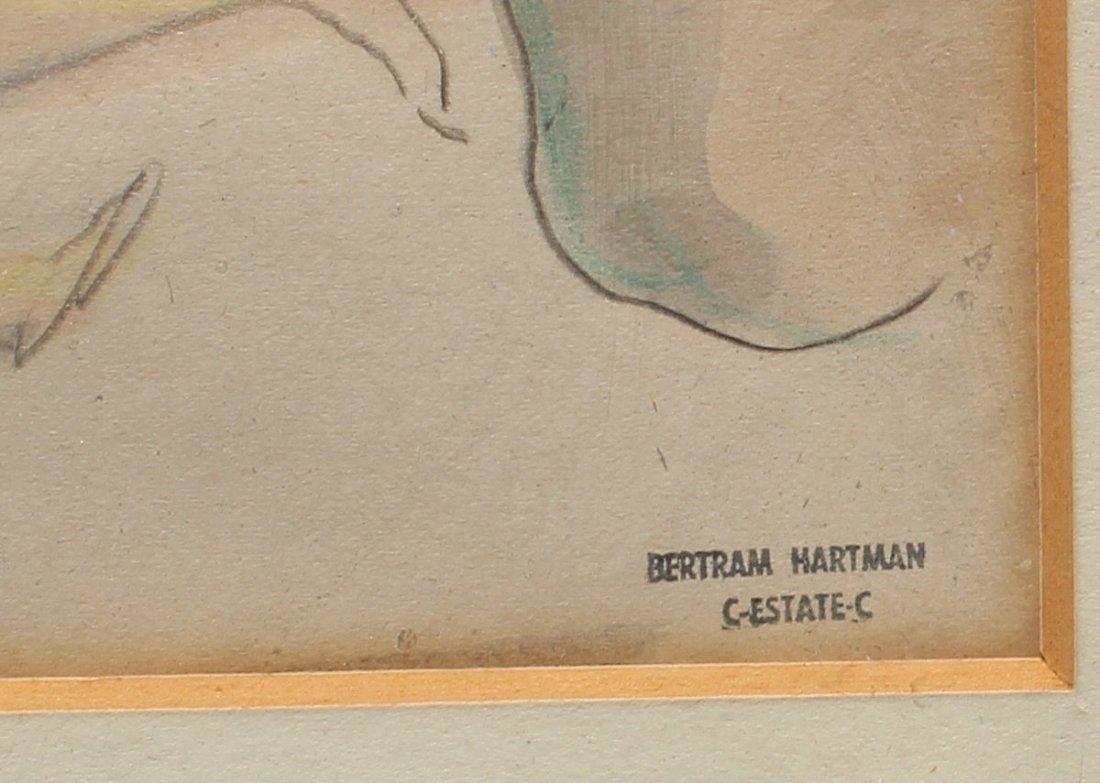 BERTRAM HARTMAN WATERCOLOR FIGURES - 3