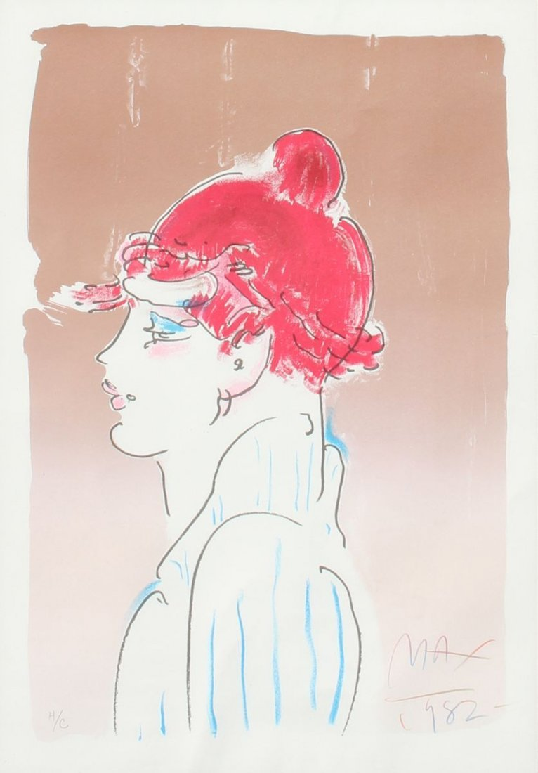 PETER MAX ''GIRL FROM IBIZA'' LITHOGRAPH