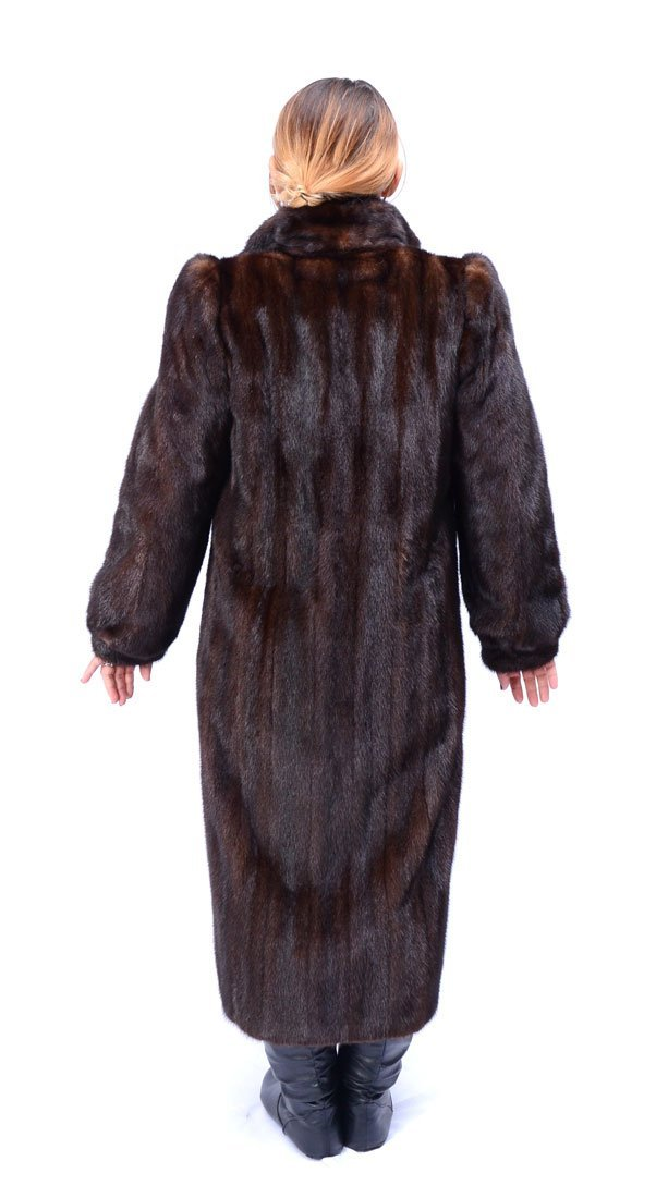 FULL LENGTH MAHOGANY MINK COAT - 3