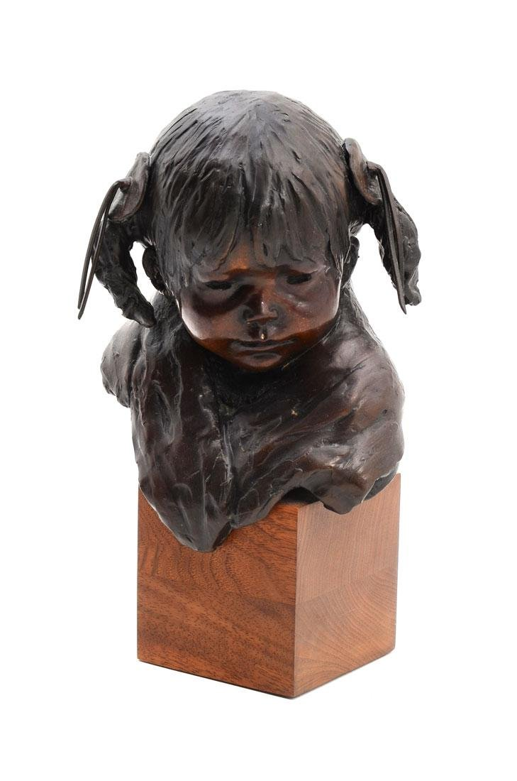 DEE TOSCANO BRONZE ''YOUNG INDIAN CHILD''