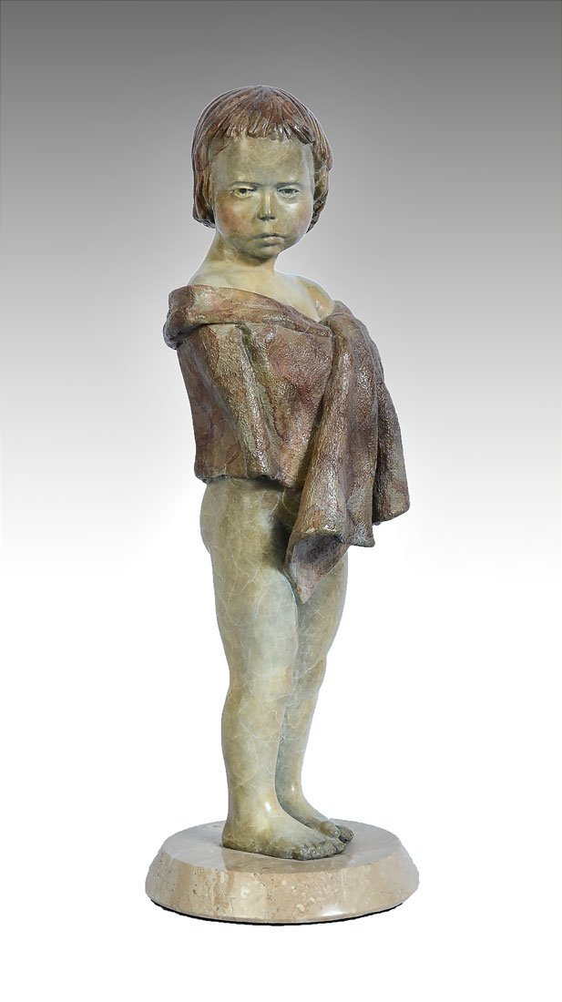 JERRY JOSLIN FAUX MARBLE PATINATED BRONZE