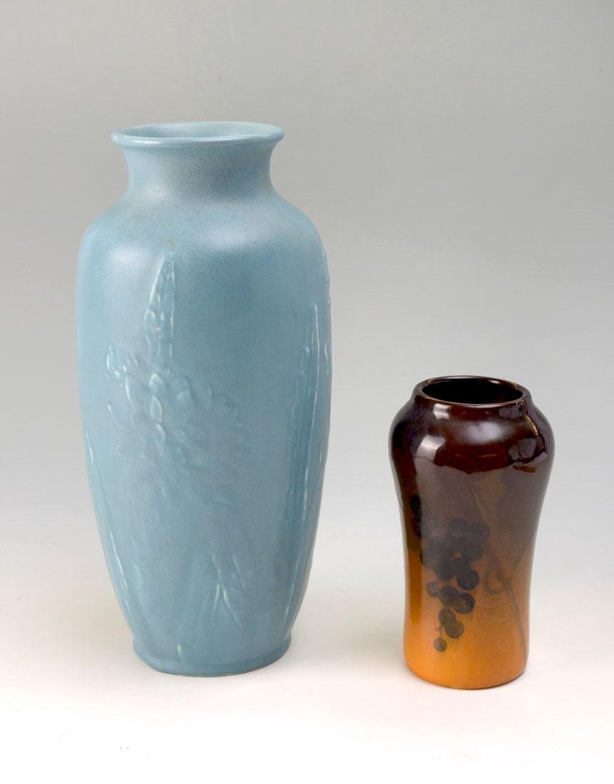 2 PIECE ROOKWOOD POTTERY VASES