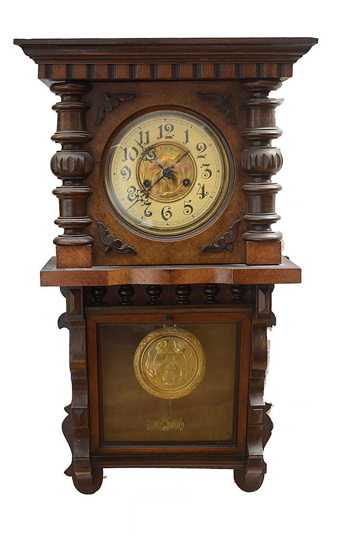 CARVED GERMAN WALL CLOCK