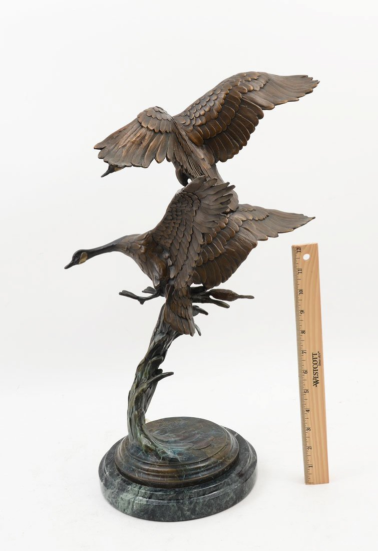 GEOFFREY SMITH GEESE BRONZE - 2