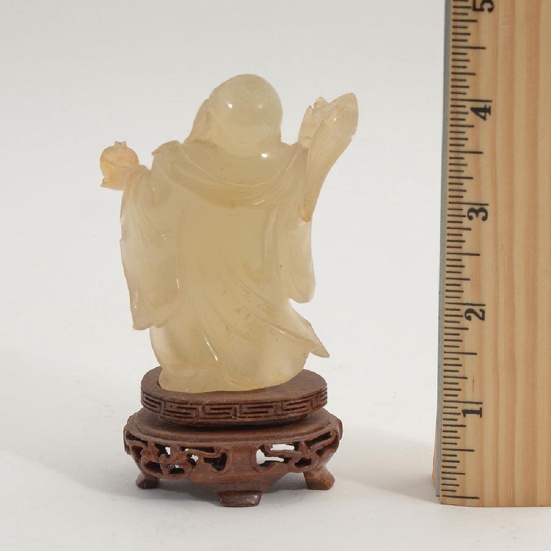 CARVED JADEITE FIGURAL HAPPY BUDDHA OR HOTEI - 2