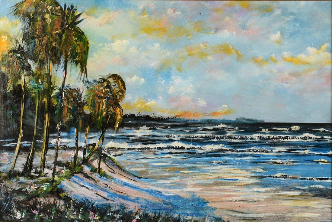 MICHAEL SEARS FLORIDA BEACH PAINTING