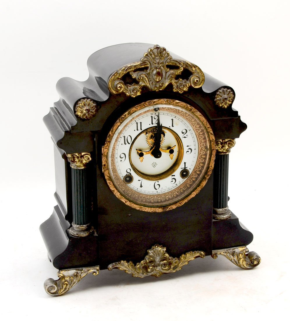 ANSONIA MUNICH CAST IRON MANTLE CLOCK