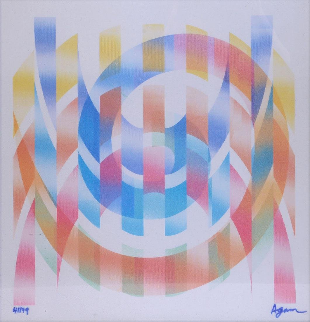 YAACOV AGAM UNTITLED LITHOGRAPH