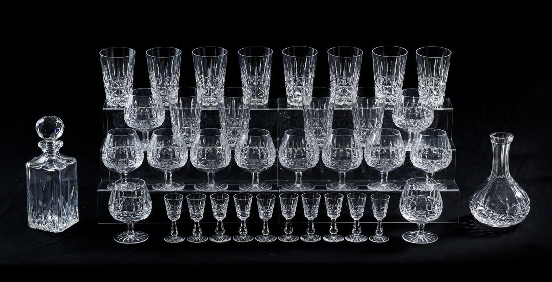COLLECTION OF WATERFORD KYLEMORE CRYSTAL STEMS